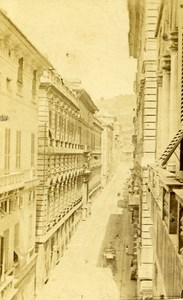 Italy Milano Street Old CDV Photo Rossi 1870