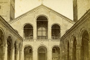 Italy Torino Cloister of San Giovanni Old CDV Photo Brogi 1870