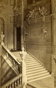 Italy Firenze Staircase of Royal Palace Old CDV Photo Brogi 1870