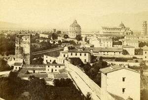 Italy Pisa Panorama Old CDV Photo Van Lint 1870