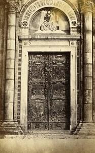 Italy Pisa Door Baptistero Ghilberti Old CDV Photo Van Lint 1870