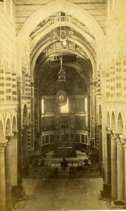 Italy Pisa Cathedral Interior Old CDV Photo Van Lint 1870
