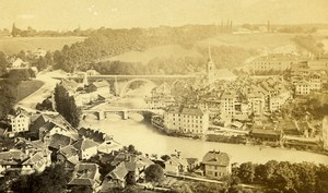 Switzerland Bern Old CDV Photo Garcin 1870