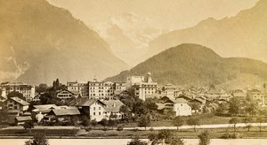 Switzerland Interlaken & Jungfrau Old CDV Photo Charnaux 1870
