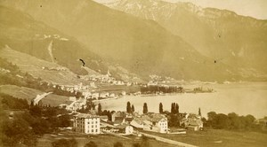 Switzerland Clarens Vernex Montreux Old CDV Photo Charnaux 1870