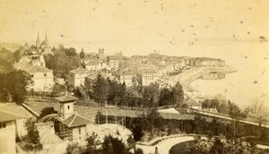 Switzerland Neufchatel Panorama Old CDV Photo Bruder 1870