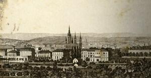Germany Wiesbaden panorama Old CDV Photo 1870