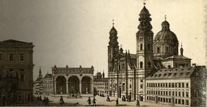 Germany Munich Theatinerkirche Old CDV Photo 1870