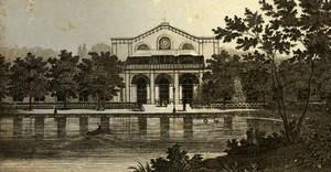 Germany Munich Gardens Old CDV Photo 1870