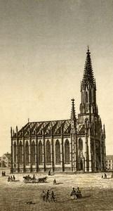 Germany Munich Church Auer Old CDV Photo 1870