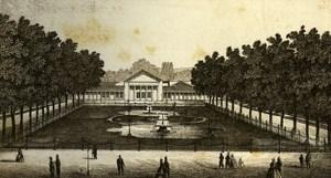 Germany Munich Kursaal gardens Old CDV Photo 1870