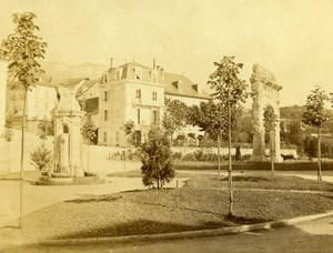 France Aix les Bains Old CDV Photo Brun 1870