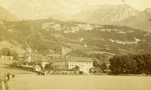 France Abbey of Talloires Old CDV Photo Demay 1870