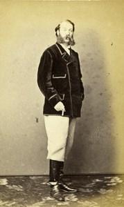 United Kingdom Canterbury Man Victorian Fashion Old CDV Photo Bateman 1870