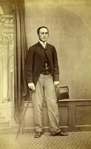Ireland Dublin George Wilson Victorian Fashion Old CDV Photo Adolphe 1870