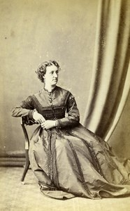 Ireland Dublin Woman Victorian Fashion Old CDV Photo Schroeder 1870