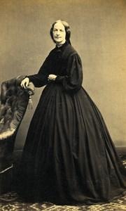 France Paris Woman Second Empire Fashion Old CDV Photo Bureau 1870