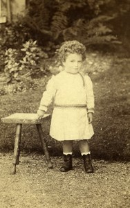 United Kingdom Leighton Children Victorian Fashion Old CDV Photo Piggott 1892
