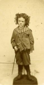 France Quesnoy sur Deule Children Fashion Old CDV Photo Mouret 1890