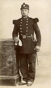 France Troyes Military Old CDV Photo Lancelot 1890