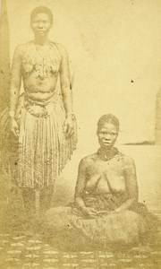 Probably East Africa Women Native Types Old CDV Photo 1870