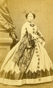 Princess Alice of United Kingdom Old CDV Photo Mayall 1870