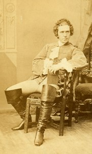 English Theater London Actor Edward Sothern Old CDV Photo Sarony 1865
