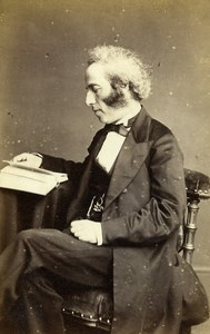 English Jurist Statistician London Leone Levi Old CDV Photo Sawyer 1865