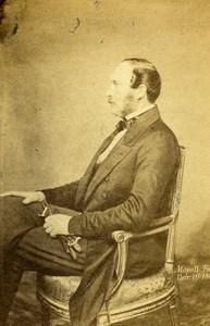 English Royalty Prince Consort Albert de Saxe Cobourg CDV Photo Mayall 1861
