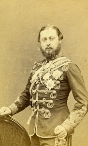 English Royalty London Edward VII Prince of Wales Old CDV Photo Downey 1867
