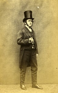 English Theater London Actor Horace Wigan Old CDV Photo Beau 1865