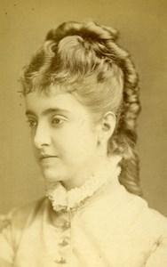 English Theater London Actrtess Adelina Patti Old CDV Photo LSC 1865