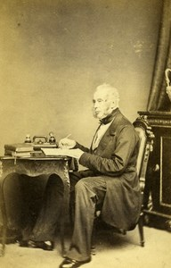 English Politician London Lord Palmerston Old CDV Photo Walker 1865