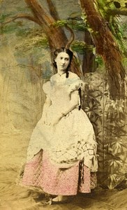 English Theater London Actress Madge Kendal Old CDV Photo King 1865