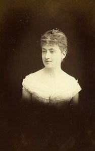 French Aristocracy Paris Countess of Chalvet Old CDV Photo Lejeune 1889