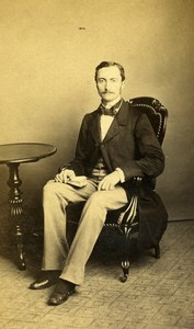 French Aristocracy Paris Alfred Rioult de Neuville Old CDV Photo Lagriffe 1870