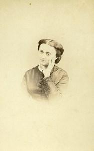 French Aristocracy Toulouse Mélanie de Villele Old CDV Photo Provost 1870