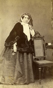 Poland Poznan Countess Mankowska Old CDV Photo Zeuschnera 1870