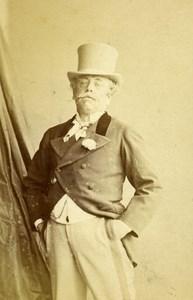 London Theater Actor Jishen Old CDV Photo Hill & Saunders 1864