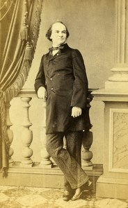 London Theater Actor Davidson Old CDV Photo Scwhendler 1864