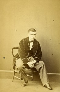 London Theater Actor Henry Neville Old CDV Photo Winch 1864