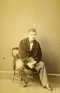 London Theater Actor Henry Neville Old CDV Photo Winch 1864