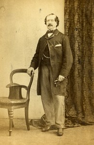 London Theater Actor Webster Old CDV Photo Bauch & Bensley 1864