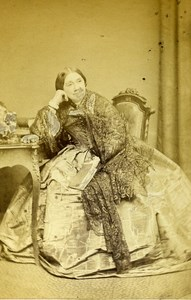 London Theater Actress Marie Anne Keeley Old CDV Photo Walker 1864