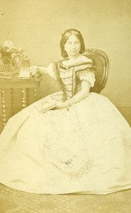 London Theater Actress Ada Cavendish Old CDV Photo Lacy 1864