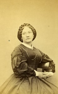 London Theater Actress Miss Billington Old CDV Photo James 1864