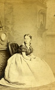 London Theater Actress Josepha Patti Old CDV Photo Southwell 1864