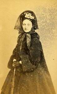 London Theater Actress Kate Bateman Old CDV Photo C.D. Fredricks 1864