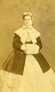 London Theater Actress Lydia Maitland Old CDV Photo Southwell 1864
