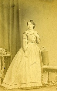 London Theater Actress Miss Lindley Old CDV Photo F.R. Window 1864